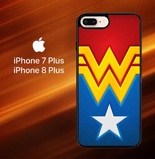 Logo Wonder Woman O3082 hoesjes iPhone 7 Plus , iPhone 8 Plus