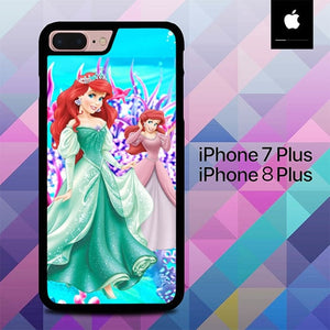 Ariel Disney Cartoon O3105 hoesjes iPhone 7 Plus , iPhone 8 Plus