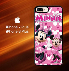 Minnie Mouse Pink O3128 hoesjes iPhone 7 Plus , iPhone 8 Plus