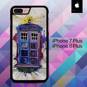 Dr Who Tardis O3202 hoesjes iPhone 7 Plus , iPhone 8 Plus