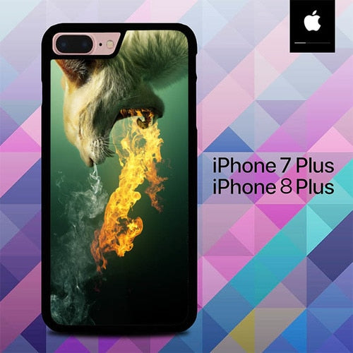 Flaming Cats O3215 hoesjes iPhone 7 Plus , iPhone 8 Plus