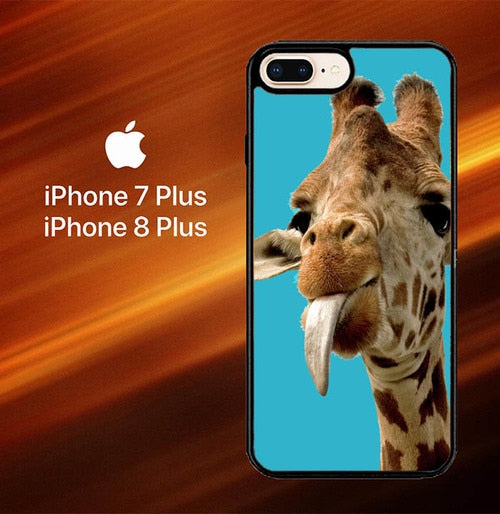 Giraffe Funny O3225 hoesjes iPhone 7 Plus , iPhone 8 Plus