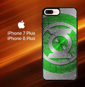 Green lantern logo O3228 hoesjes iPhone 7 Plus , iPhone 8 Plus