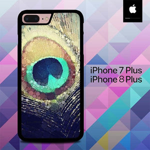 Peacock Feather O3274 hoesjes iPhone 7 Plus , iPhone 8 Plus