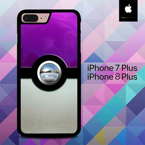 Pokeball Chrome Button O3278 hoesjes iPhone 7 Plus , iPhone 8 Plus