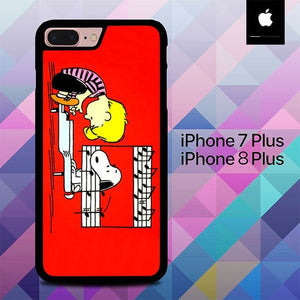 Schroeder And Snoopy Peanuts Comic Pain O3283 hoesjes iPhone 7 Plus , iPhone 8 Plus