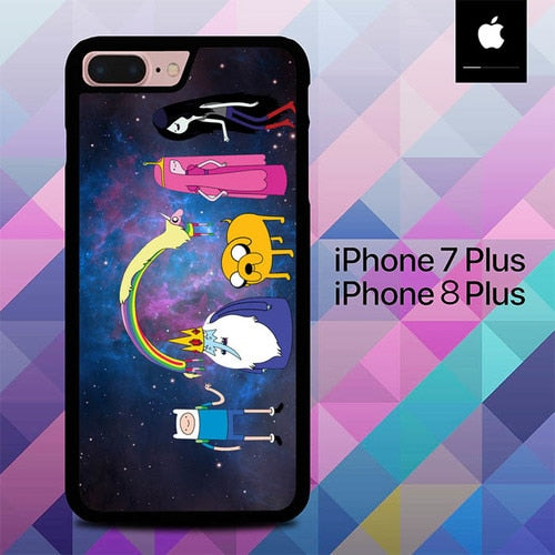 Adventure Time on Galaxy O3342 hoesjes iPhone 7 Plus , iPhone 8 Plus