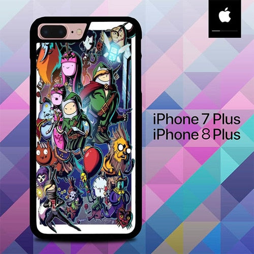 Adventure Time Legend of Zelda O3343 hoesjes iPhone 7 Plus , iPhone 8 Plus