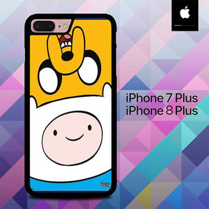 Adventure Time Jake And Finn 3 O3344 hoesjes iPhone 7 Plus , iPhone 8 Plus