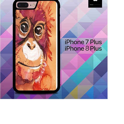 Baby Orangutan O3387 hoesjes iPhone 7 Plus , iPhone 8 Plus