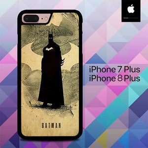 Batman Poster Logo O3396 hoesjes iPhone 7 Plus , iPhone 8 Plus