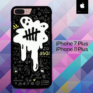 5 Seconds of Summer Logo O3407 hoesjes iPhone 7 Plus , iPhone 8 Plus