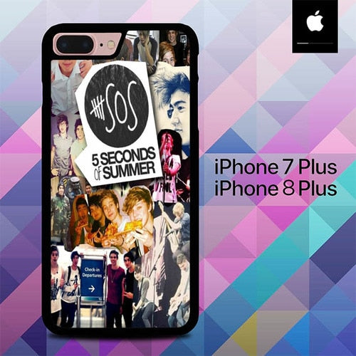 5 Second Of Summer Colleges 2 O3419 hoesjes iPhone 7 Plus , iPhone 8 Plus