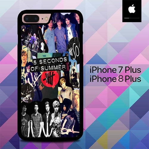 5 Second of Summer O3434 hoesjes iPhone 7 Plus , iPhone 8 Plus