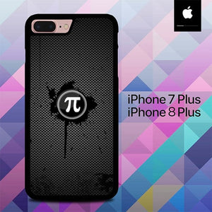 Fiber Carbon Pi Day Logo O4013 hoesjes iPhone 7 Plus , iPhone 8 Plus