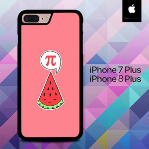 Watermelon Cute Pi Day Logo O4023 hoesjes iPhone 7 Plus , iPhone 8 Plus