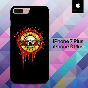 Guns And Roses Logo O5002 hoesjes iPhone 7 Plus , iPhone 8 Plus
