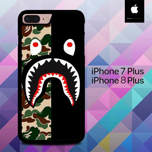 Bape Shark Logo O5003 hoesjes iPhone 7 Plus , iPhone 8 Plus