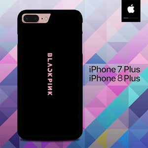 Blackpink Logo Black O5069 hoesjes iPhone 7 Plus , iPhone 8 Plus