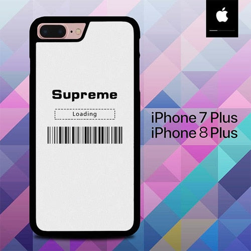 Supreme Wallpaper Loading O5189 hoesjes iPhone 7 Plus , iPhone 8 Plus