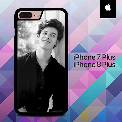 Shawn Mendes in Black White O6546 hoesjes iPhone 7 Plus , iPhone 8 Plus