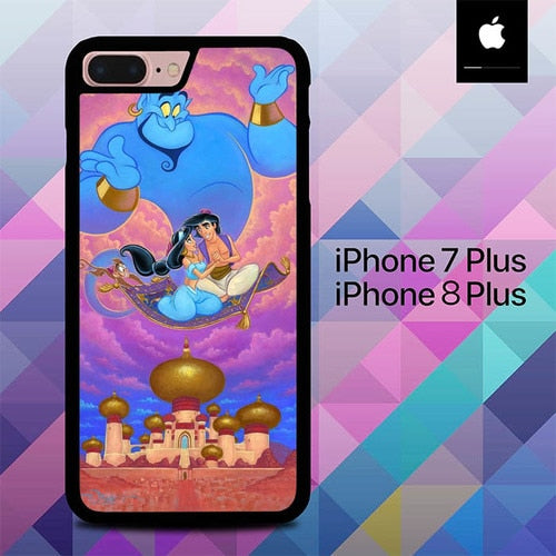 Aladdin and Jasmine O6548 hoesjes iPhone 7 Plus , iPhone 8 Plus