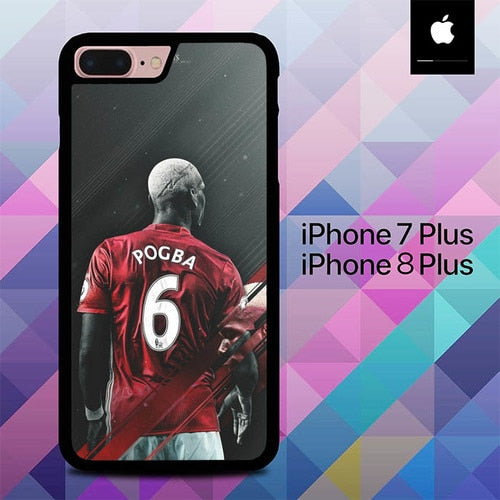 Manchester United Pogba O6593 hoesjes iPhone 7 Plus , iPhone 8 Plus