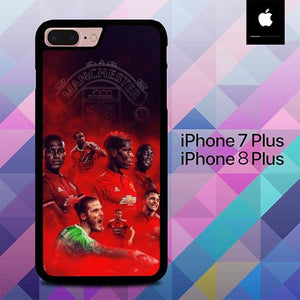 Manchester United O6611 hoesjes iPhone 7 Plus , iPhone 8 Plus