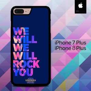We Will Rock You Bohemian O6650 hoesjes iPhone 7 Plus , iPhone 8 Plus