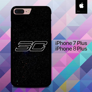 Stephen Curry Logo O6791 hoesjes iPhone 7 Plus , iPhone 8 Plus