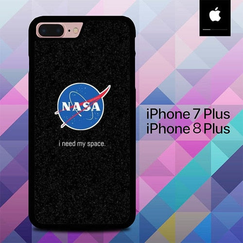 Nasa I Need My Space  O7034 hoesjes iPhone 7 Plus , iPhone 8 Plus