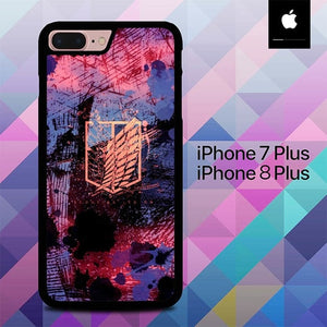 Shingeki no Kyojin Logo O7089 hoesjes iPhone 7 Plus , iPhone 8 Plus