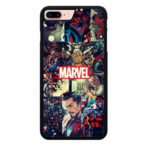 Marvel Comic Heroes O7283 hoesjes iPhone 7 Plus , iPhone 8 Plus