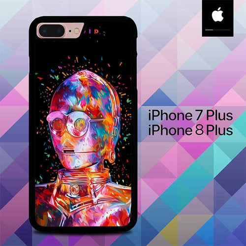 Droid Star Wars O7331 hoesjes iPhone 7 Plus , iPhone 8 Plus