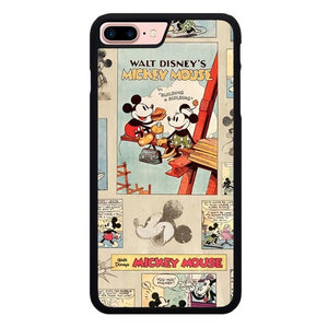 Walt Disney's Mickey Mouse O7372 hoesjes iPhone 7 Plus , iPhone 8 Plus