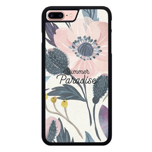 Floral Summer Paradise O7377 hoesjes iPhone 7 Plus , iPhone 8 Plus