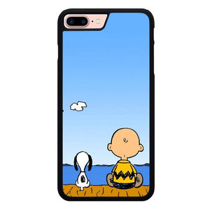 Snoopy Spring O7397 hoesjes iPhone 7 Plus , iPhone 8 Plus
