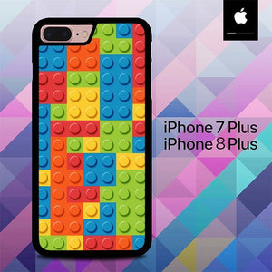 Blocks Rainbow Lego Art O7439 hoesjes iPhone 7 Plus , iPhone 8 Plus
