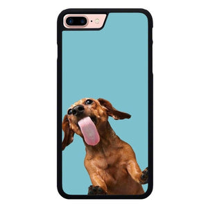 The funny thing is the dog on the glass O7441 hoesjes iPhone 7 Plus , iPhone 8 Plus