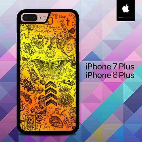 One Direction Tattoos O7447 hoesjes iPhone 7 Plus , iPhone 8 Plus