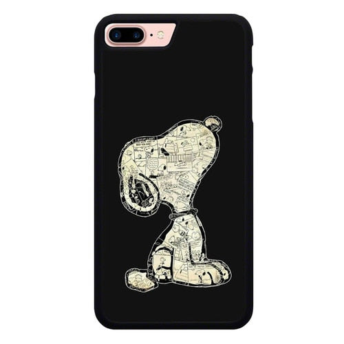 Snoopy has a big dream O7462 hoesjes iPhone 7 Plus , iPhone 8 Plus