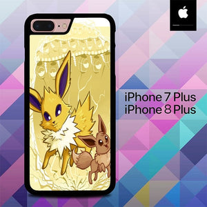 Pokemon Eevee Jolteon O7464 hoesjes iPhone 7 Plus , iPhone 8 Plus