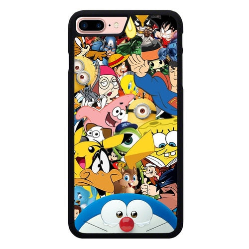Cartoon All Character O7466 hoesjes iPhone 7 Plus , iPhone 8 Plus