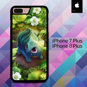 Pokemon Bulbasaur Art O7466 hoesjes iPhone 7 Plus , iPhone 8 Plus