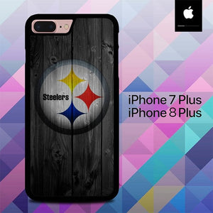 Pittsburgh Steelers Wood O7469 hoesjes iPhone 7 Plus , iPhone 8 Plus