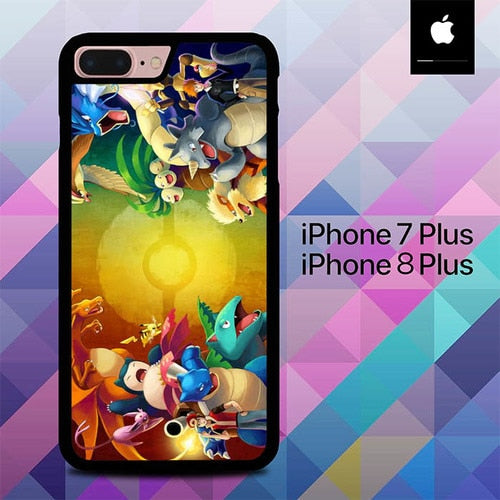 Pokemon trainers red vs blue O7488 hoesjes iPhone 7 Plus , iPhone 8 Plus