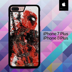 Deadpool Painting art O7490 hoesjes iPhone 7 Plus , iPhone 8 Plus