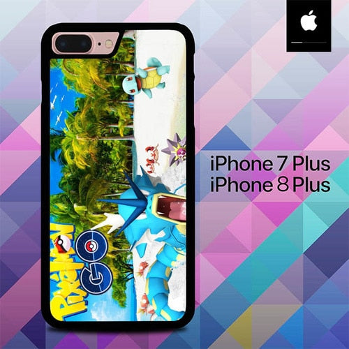 Pokemon on Beach O7490 hoesjes iPhone 7 Plus , iPhone 8 Plus