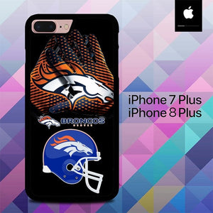 Denver Broncos Logo O7495 hoesjes iPhone 7 Plus , iPhone 8 Plus