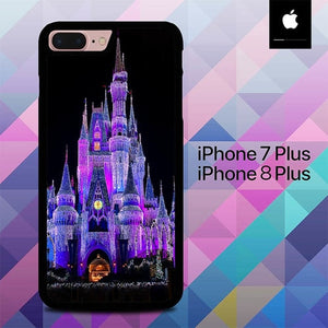 Disney Castle Night Lights O7497 hoesjes iPhone 7 Plus , iPhone 8 Plus